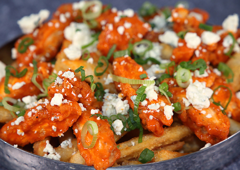 Buffalo Chicken Blue Cheese Fries