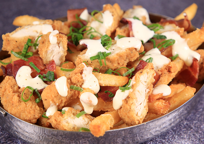 Chicken Bacon Ranch Loaded French Fries