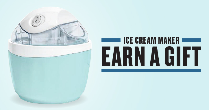 Ice Cream Maker Earn a Gift