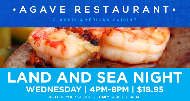Wednesday Land and Sea Dinner