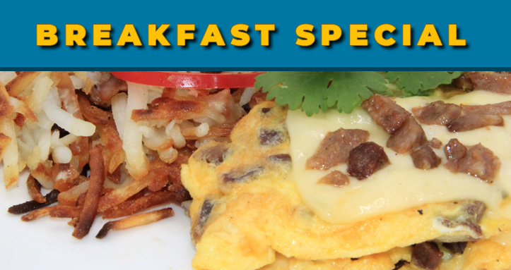 Diamond Grill Features - Breakfast Special